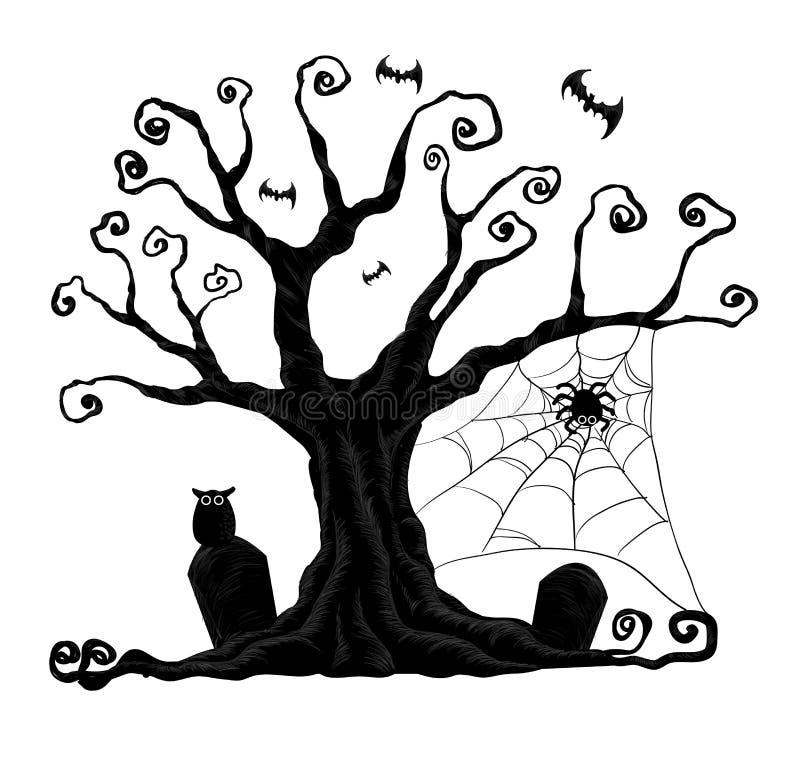 Halloween-bomen stock afbeeldingen