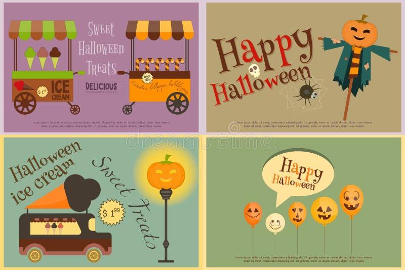 Halloween-Bonbon-Festlichkeiten lizenzfreie abbildung