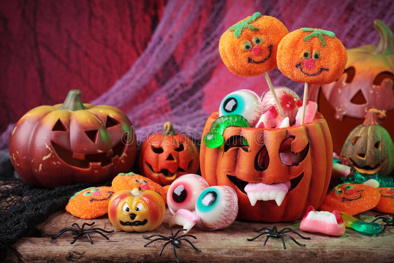 Halloween-Bonbons lizenzfreies stockbild