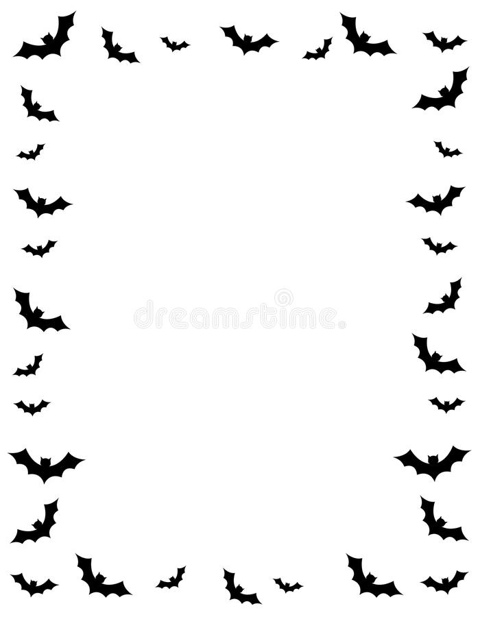 Halloween border stock images