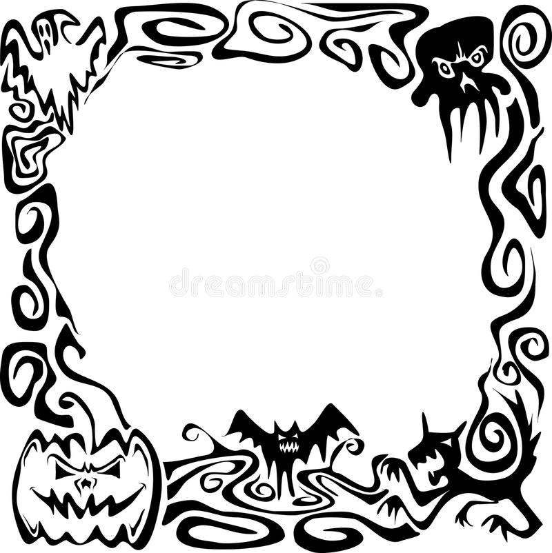 Download Halloween border stock illustration. Image of hand, claws - 25010856