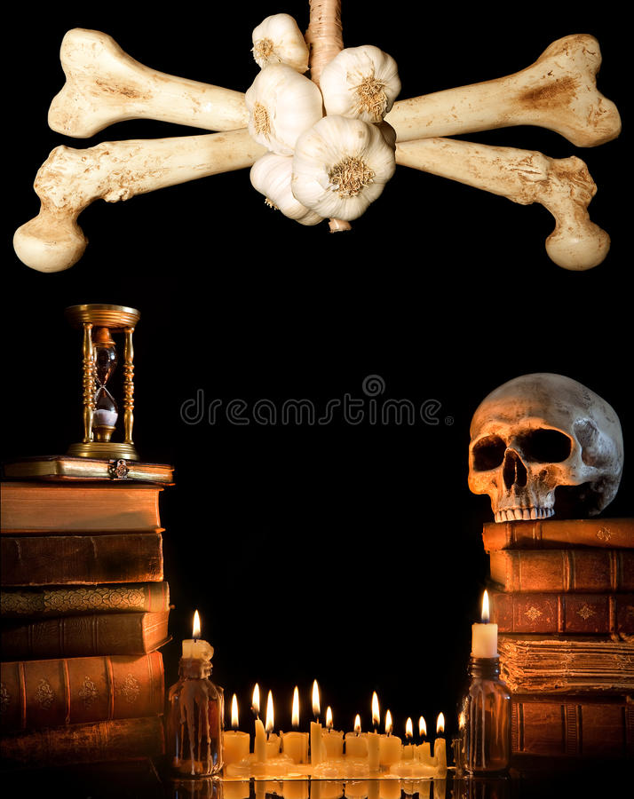Download Halloween border 3 stock photo. Image of darkness, ancient - 10896234
