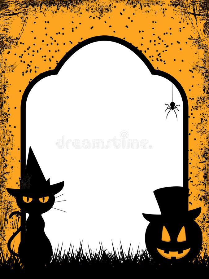 Halloween border background stock illustration