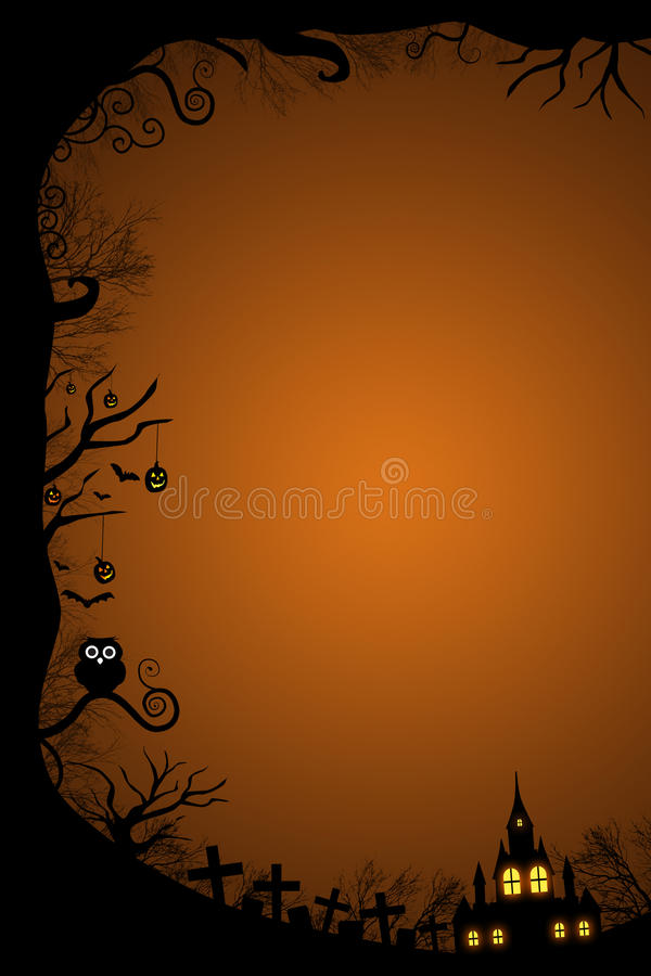 Halloween border for design stock illustration