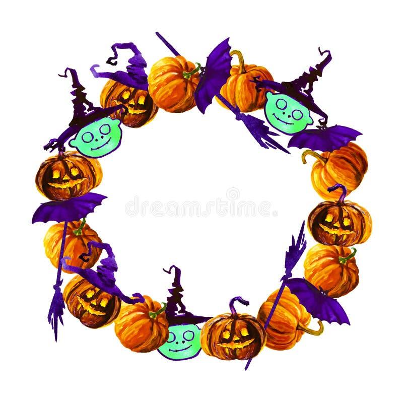 Halloween border for design stock illustration