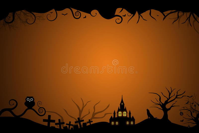 Halloween border for invitation card royalty free illustration