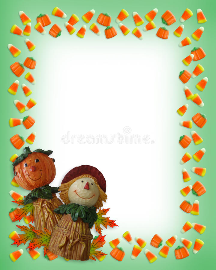 Halloween Border Pumpkin Scarecrow