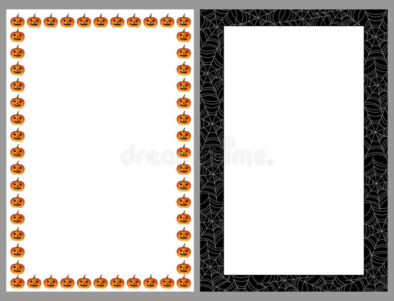 Halloween borders frames royalty free illustration