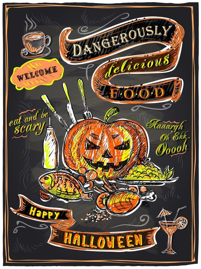 Halloween-bordmenu vector illustratie