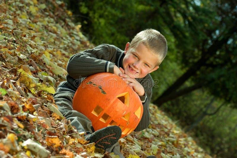 Download Halloween boy stock image. Image of pick, daytime, fall - 8814501