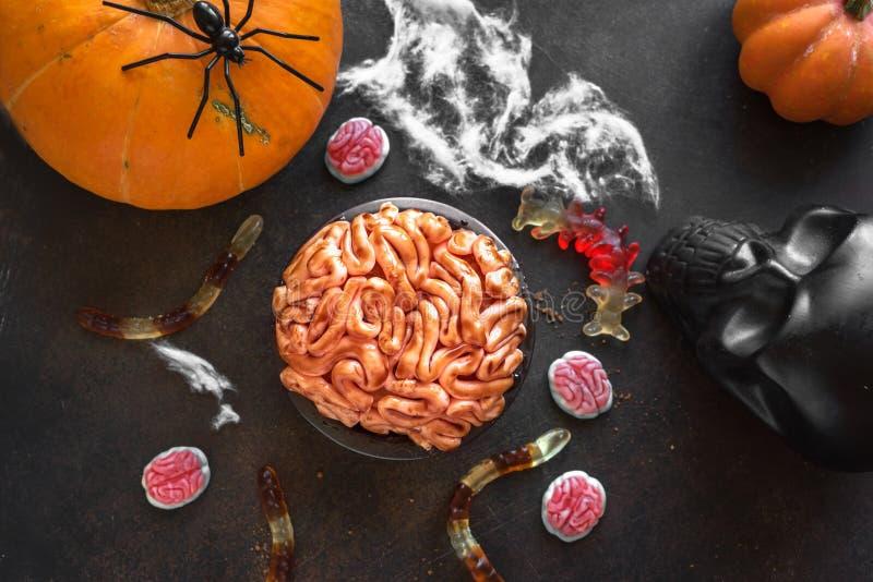 Halloween Brain Cake stock images