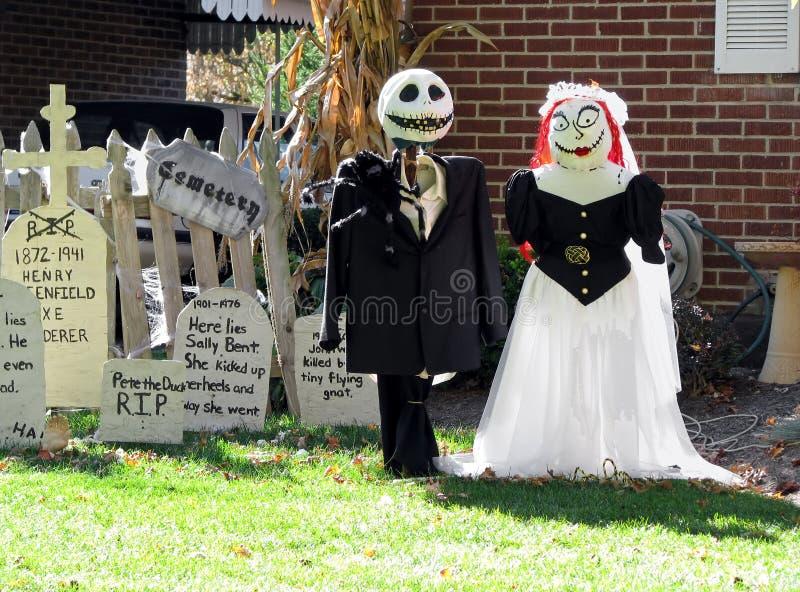Halloween Bride and Groom stock image