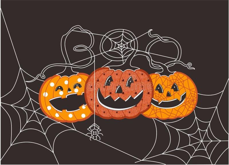 Halloween-Buh zu Ihnen Kürbise stock abbildung