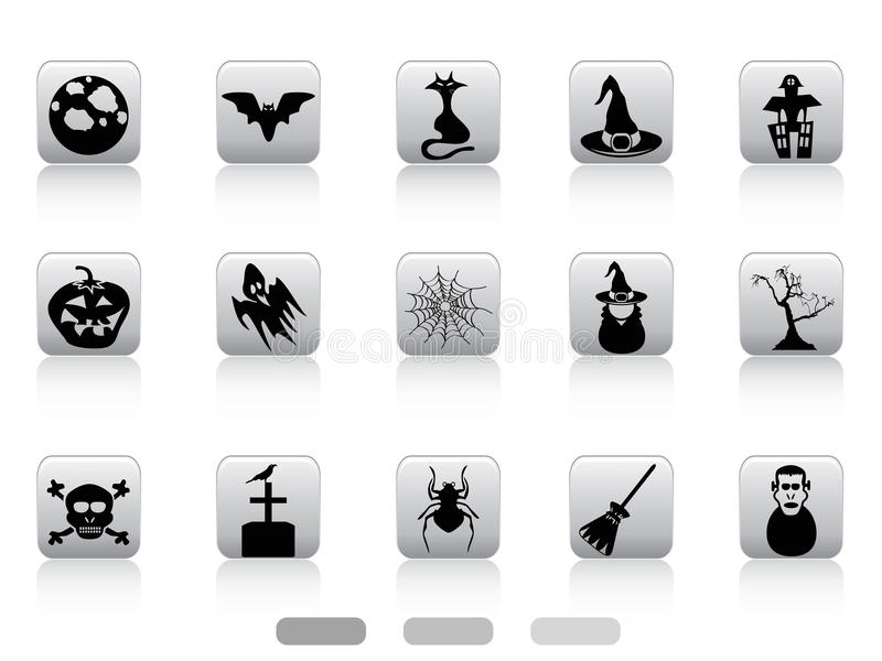 Download Halloween button icons set stock vector. Illustration of gray - 33898609