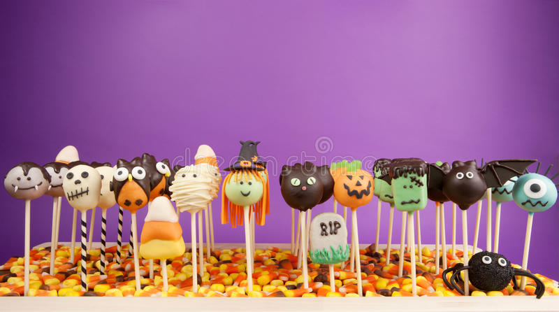 Download Halloween cake pops stock image. Image of food, holiday - 26951055