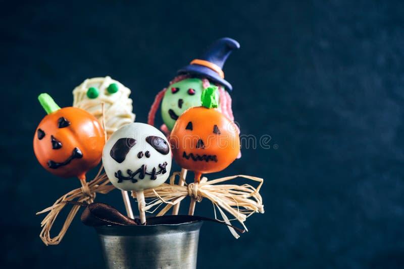 Halloween cake pops royalty free stock photos