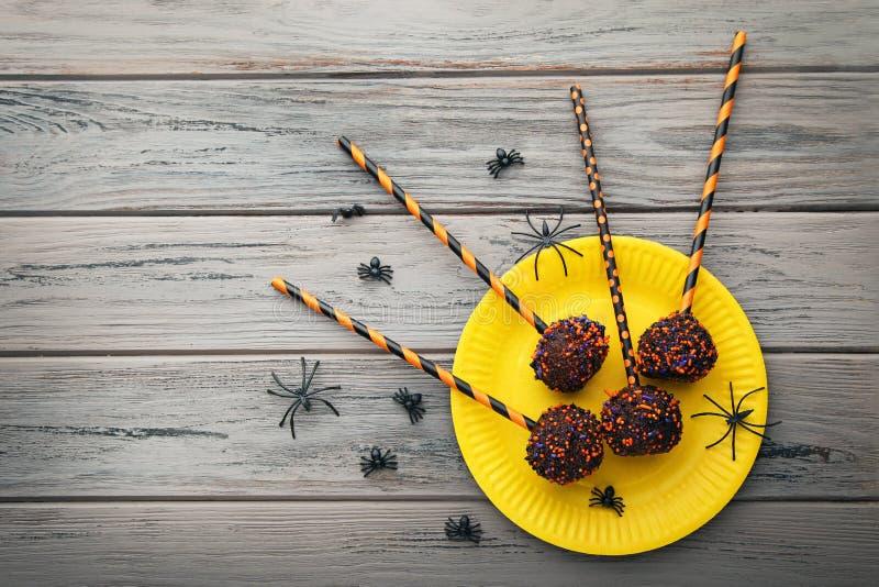 Halloween cake pops stock image