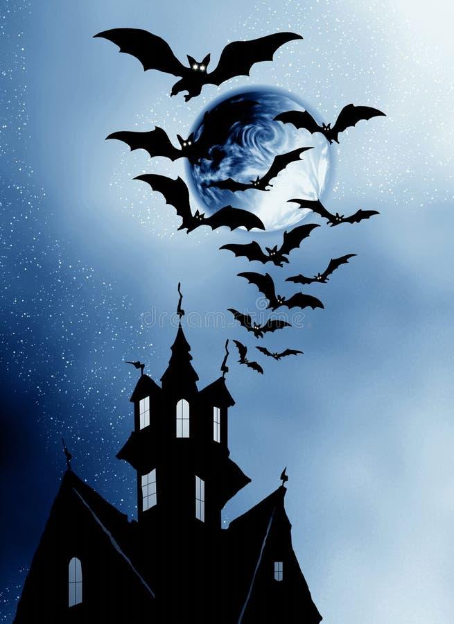 Halloween. Camera e blocchi. illustrazione vettoriale
