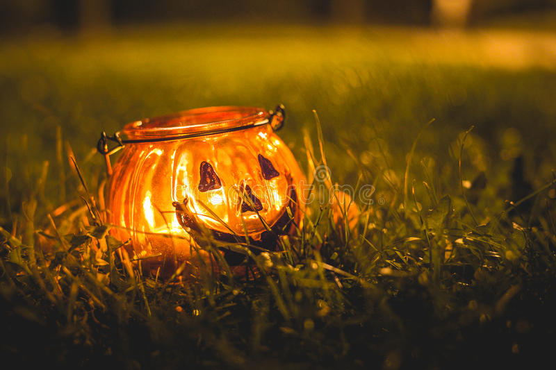 Halloween Candle Holder stock photography