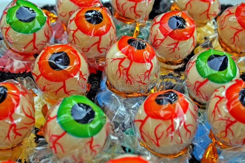 Halloween candy. stock images