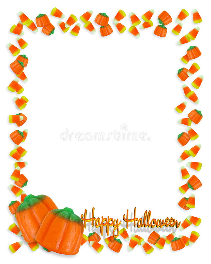 Download Halloween-Candy border stock illustration. Image of pumpkins - 6533874