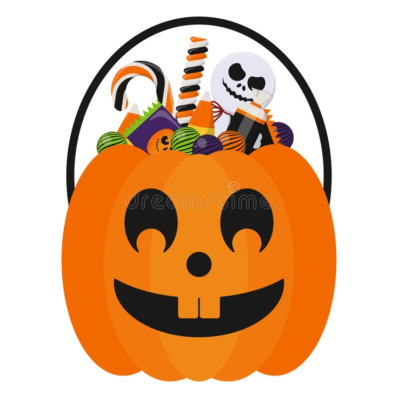 Free Halloween Candy Bucket And Candies Royalty Free Stock Image - 125774606