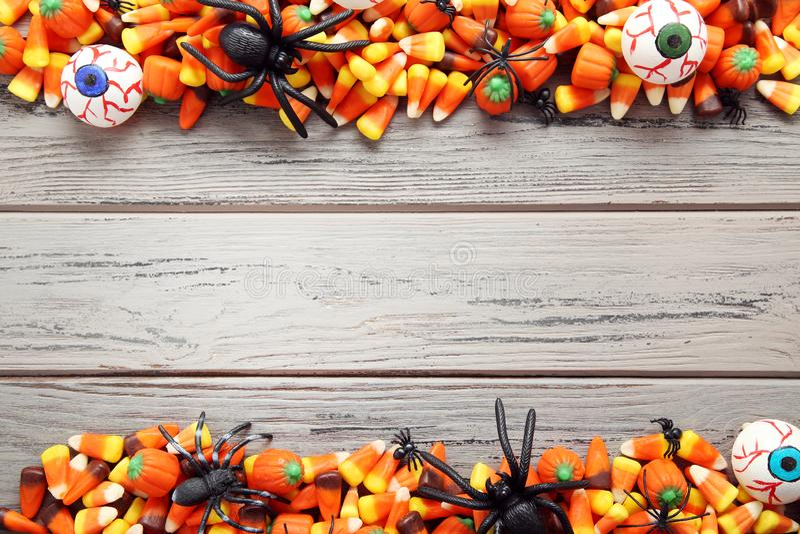 Halloween candy corns stock photos