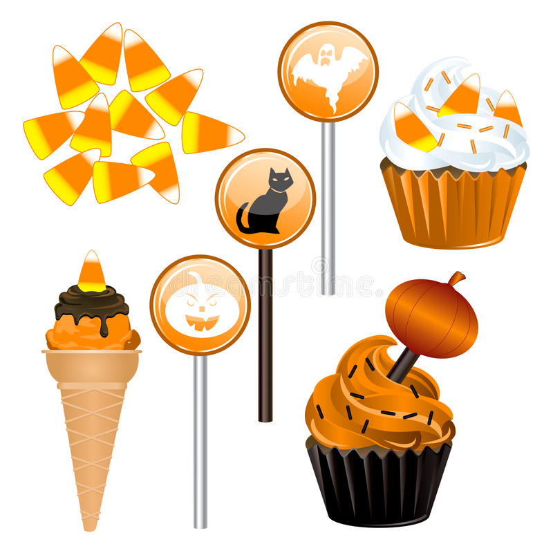 Download Halloween Candy Cupcakes stock vector. Illustration of halloween - 21765834
