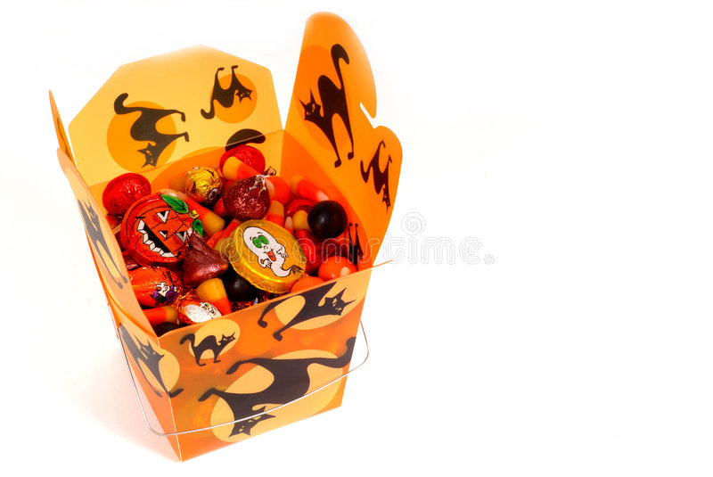 Download Halloween Candy In Orange Chinese Container Stock Photo - Image of colorful, culinary: 1226266