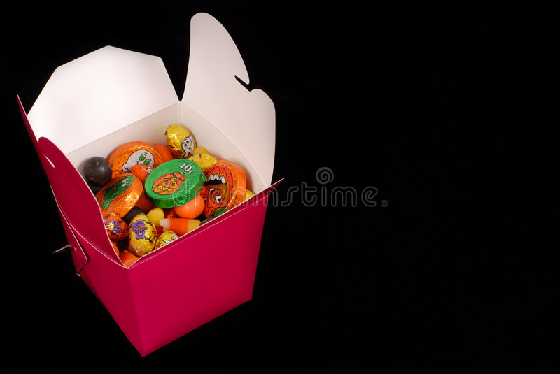 Download Halloween Candy In A Red Chinese Food Container Stock Image - Image of holiday, tasty: 1265337