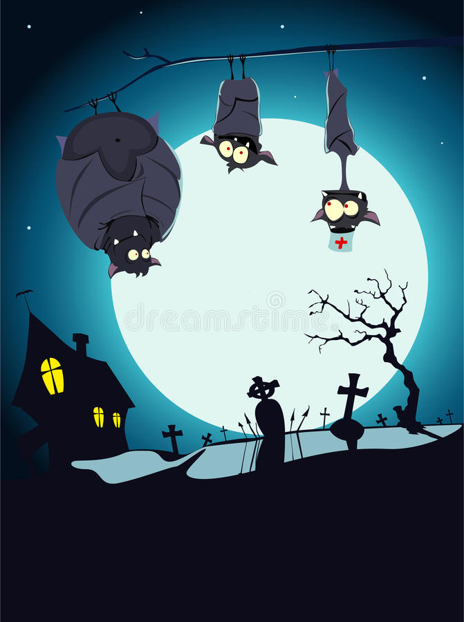 Download Halloween card stock vector. Image of character, cemetery - 11186816