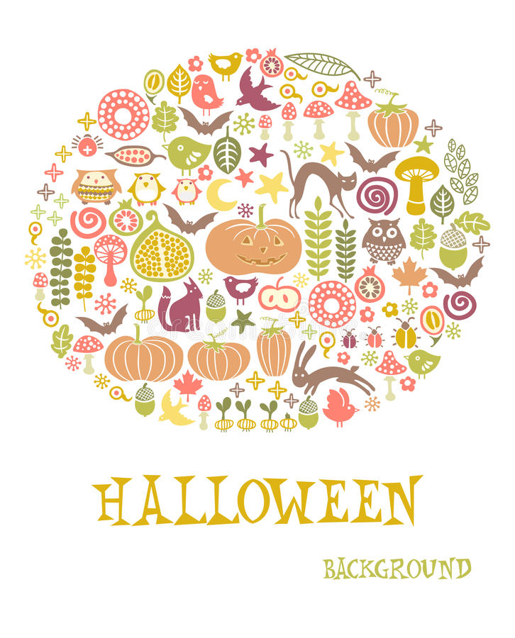 Download Halloween card stock vector. Illustration of background - 21537593