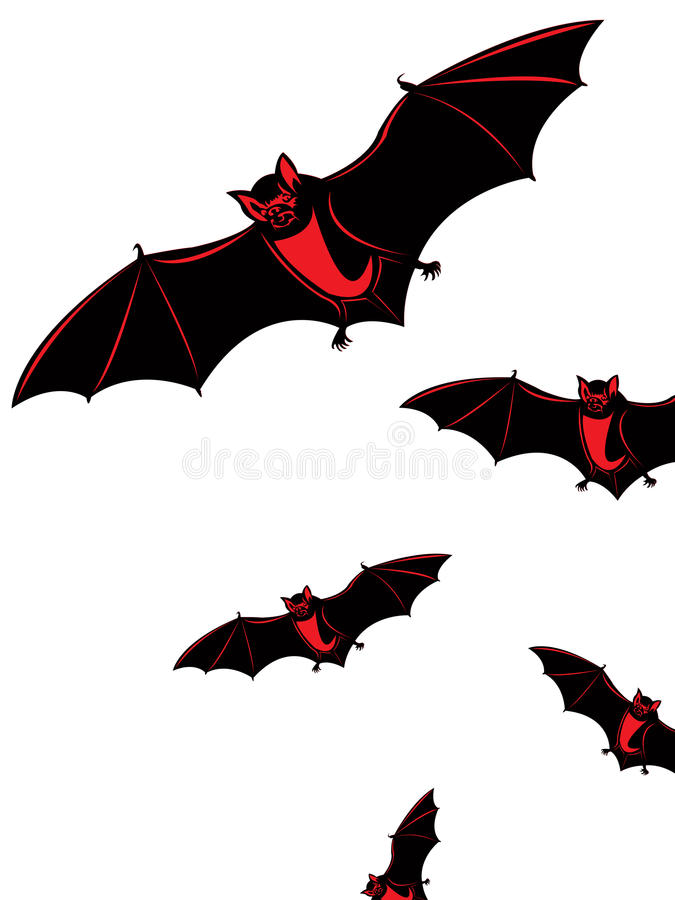 Download Halloween card with bats stock vector. Image of wings - 27479322