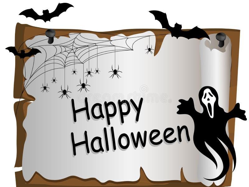 Halloween card royalty free illustration