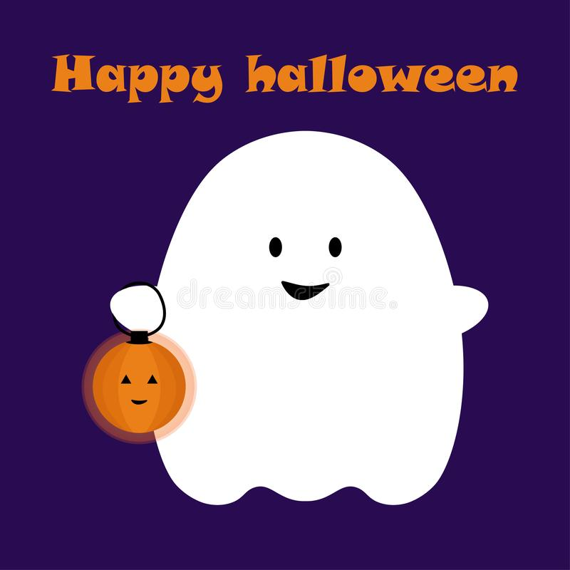 Halloween card1 stock abbildung