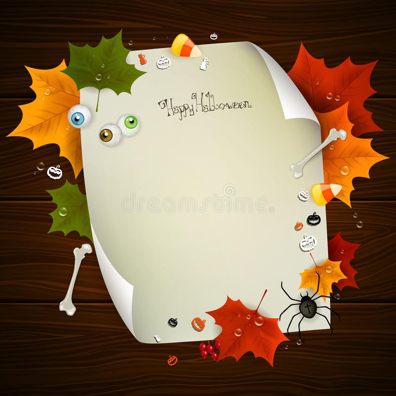 Halloween Card. Illustration of a Decorative Halloween Background vector illustration