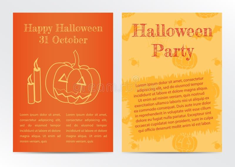 Halloween card invitation. Vector illustration royalty free illustration