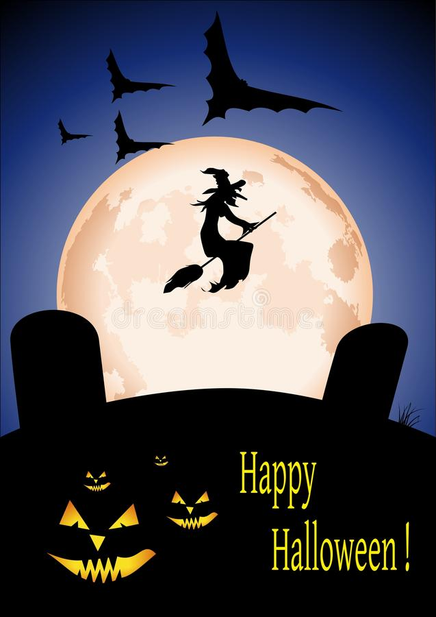 Download Halloween card stock vector. Image of black, halloween - 33988907