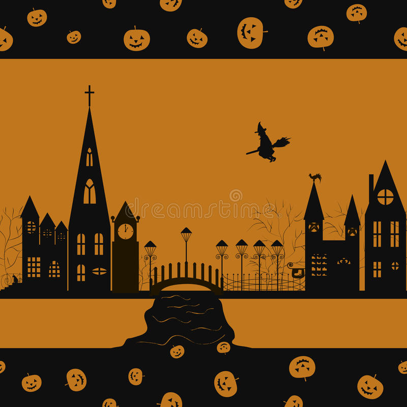 Halloween card seamless pattern