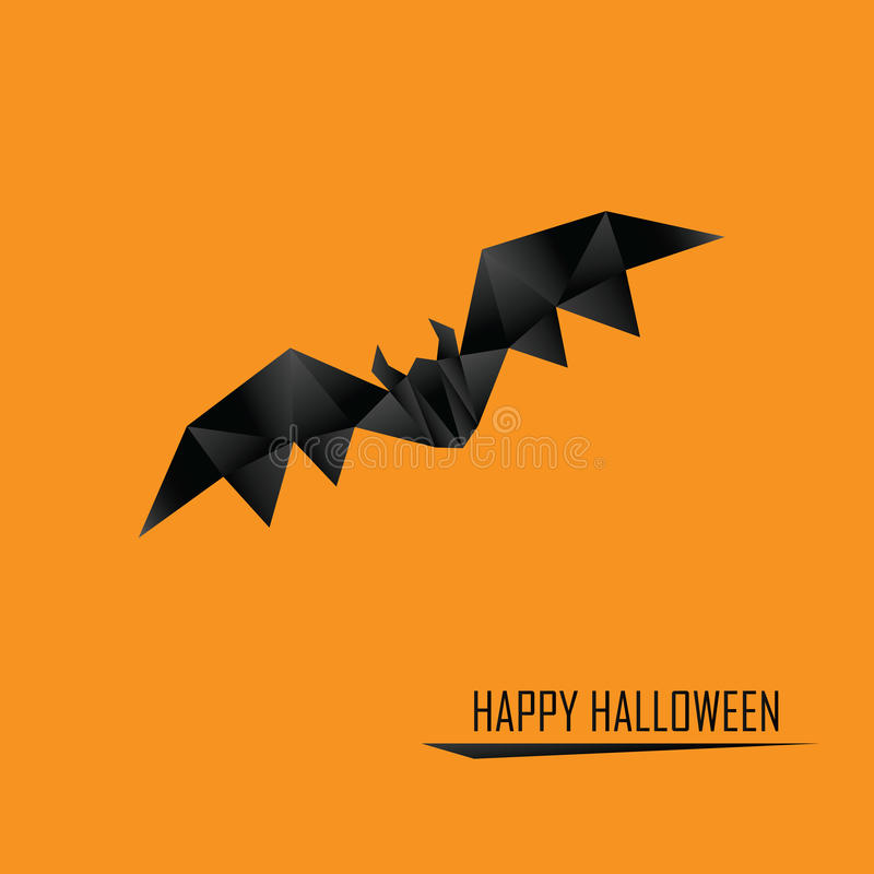 Halloween card template. Low poly design holiday stock illustration