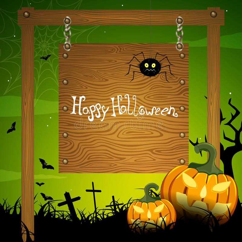 Halloween card stock illustration