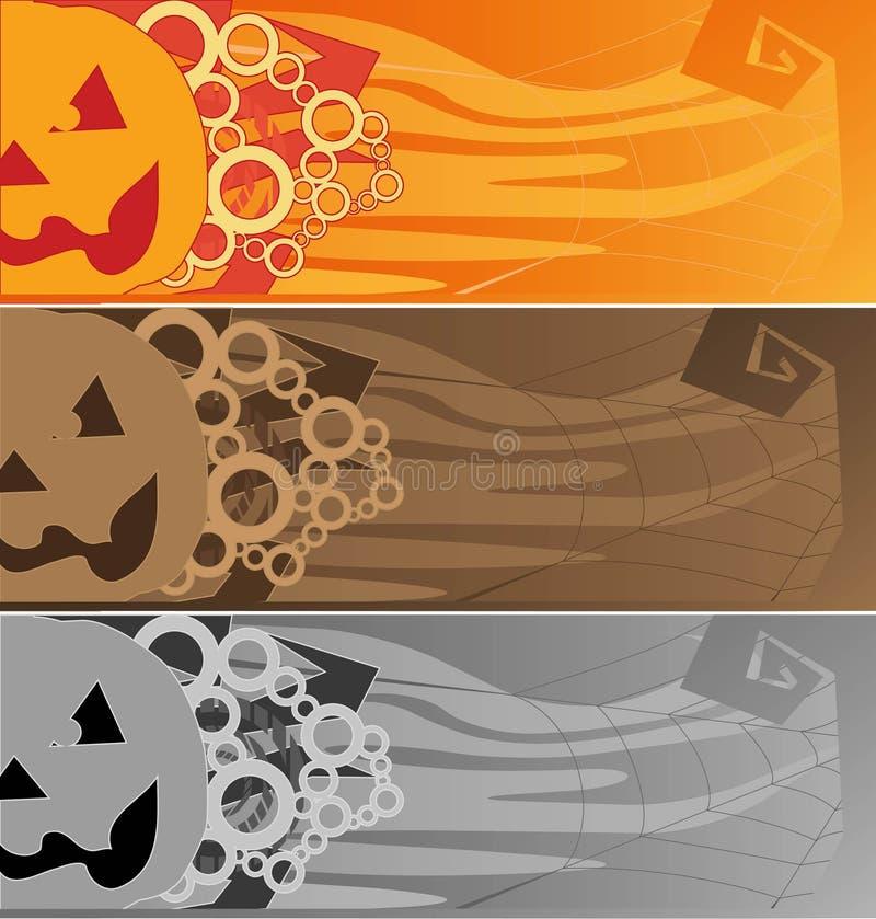 Halloween_Cards illustrazione di stock