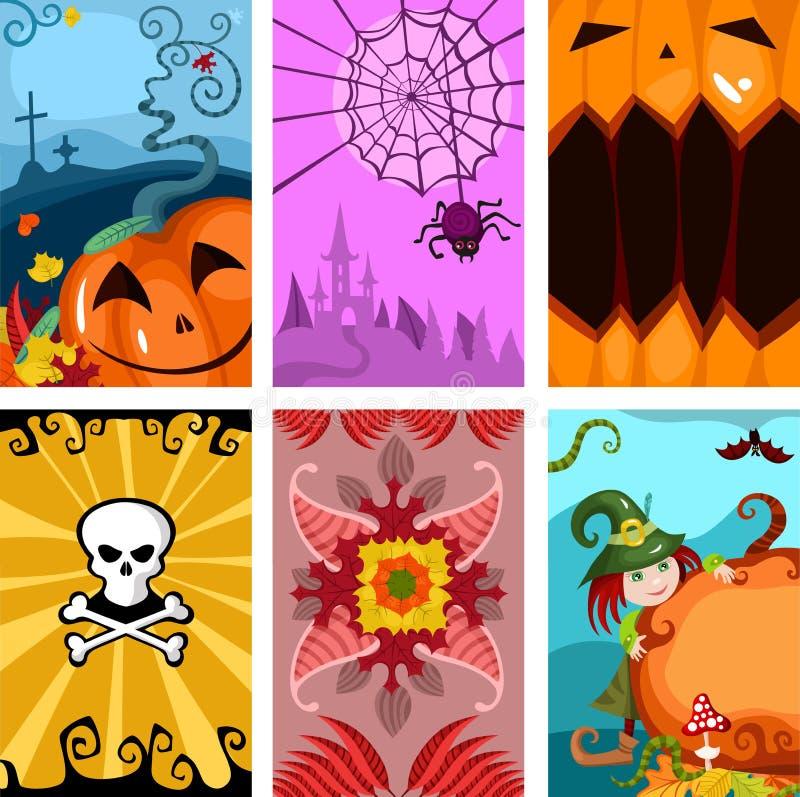 Halloween cards vector illustration