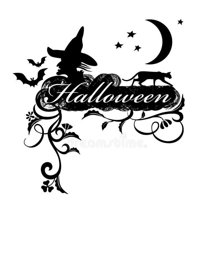 Halloween. Cartão. ilustração do vetor