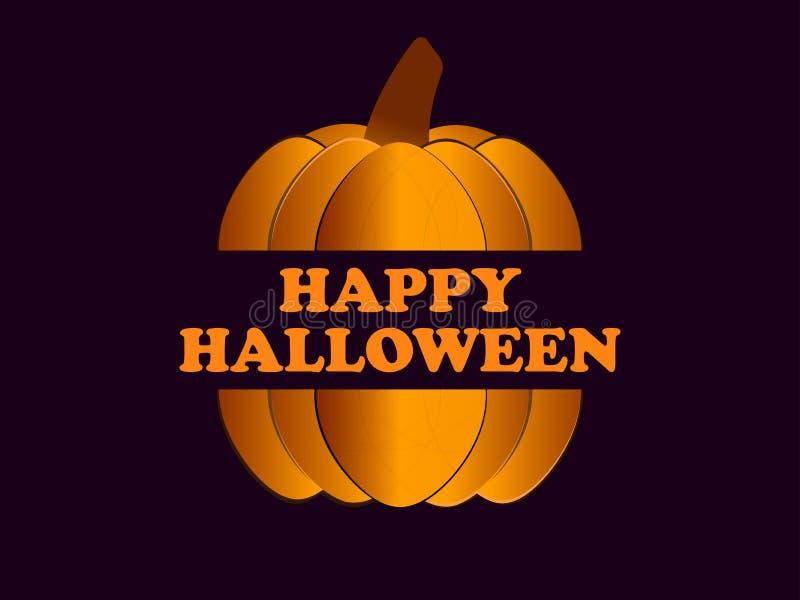 Halloween cartolina d'auguri felice di festa del 31 ottobre con la zucca Priorità bassa festiva Vettore illustrazione vettoriale