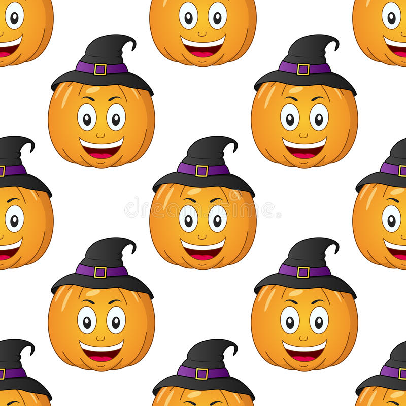 Halloween cartoon pumpkin seamless stock vector for Cartoon pumpkin patterns