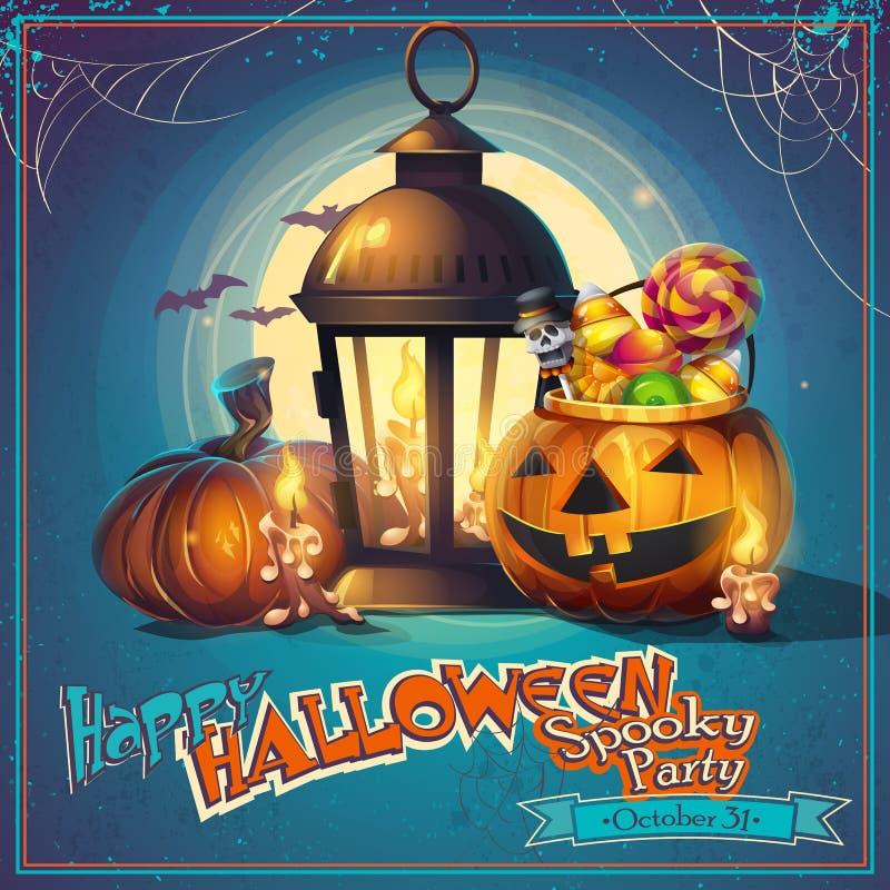 Halloween cartoon stylized vector illustration stock illustration