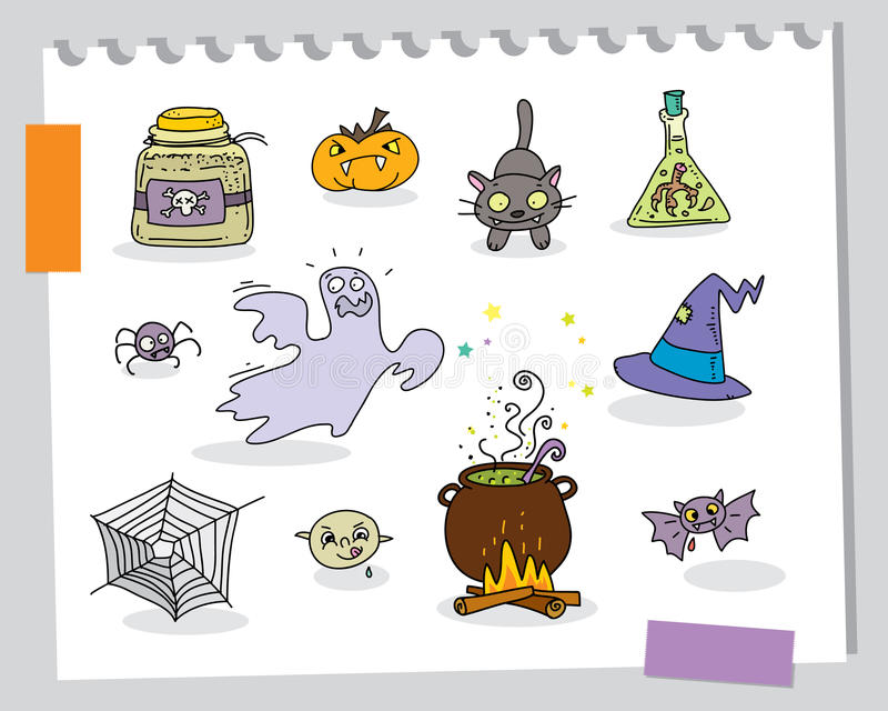 Download Halloween cartoons stock vector. Illustration of freaky - 20827225