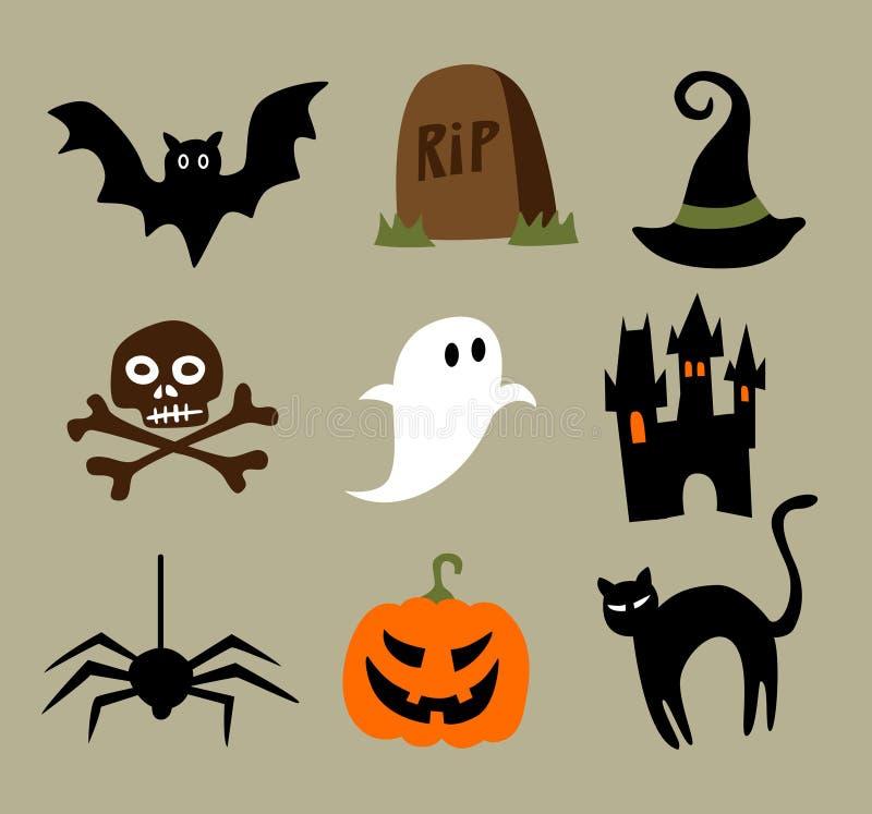 Download Halloween Cartoons stock vector. Image of grave, graphic - 21119764
