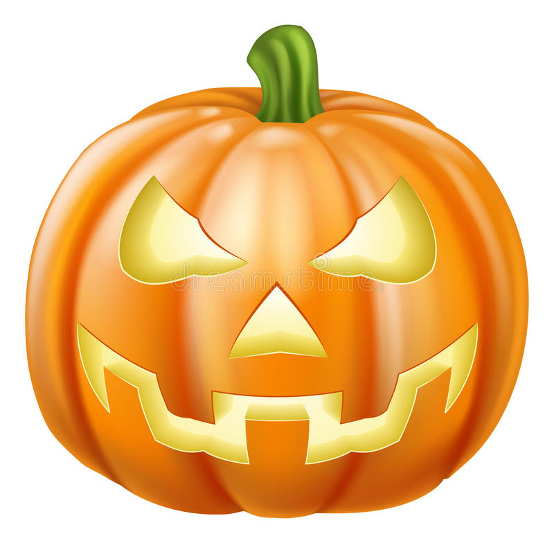 Halloween carved pumpkin. Illustration of a carved Halloween pumpkin or jack o' lantern vector illustration